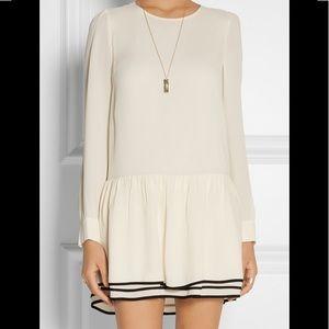 See by Chloe white crepe mini dress